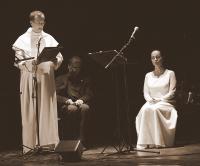 Asperges me... Budapest, Klebelsberg Kultúrkúria, 2009. október 11., bemutató előadás; P. Bátor Botond pálos tartományfőnök, Eperjes Károly és Sudár Annamária